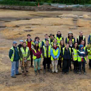 Cambridge archaeology student dig 2014
