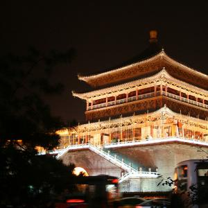 Sam's year abroad, Xian's Drum Tower at night