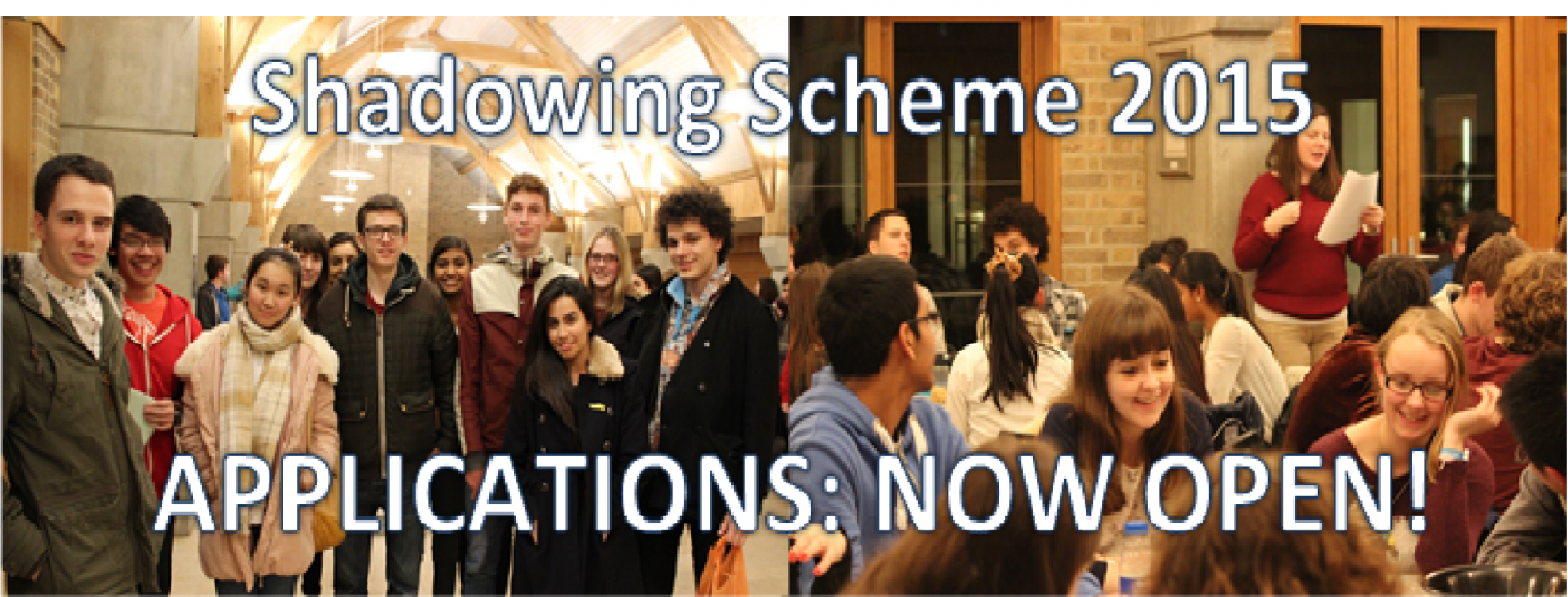 Shadowing Scheme Applications Now Open!